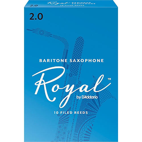 Rico Royal Baritone Saxophone Reeds, Box of 10 Strength 2