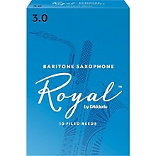 Rico Royal Baritone Saxophone Reeds, Box of 10 Strength 3