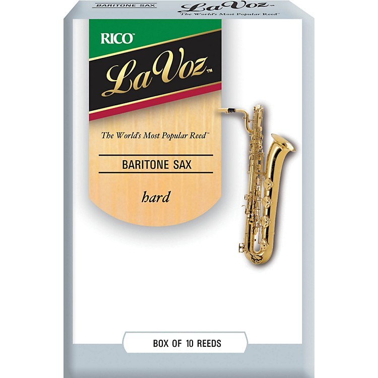La VozBaritone Saxophone ReedsHardBox of 10