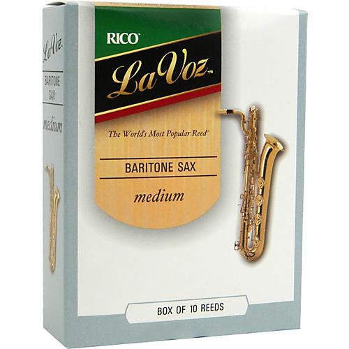 La Voz Baritone Saxophone Reeds Medium Box of 10