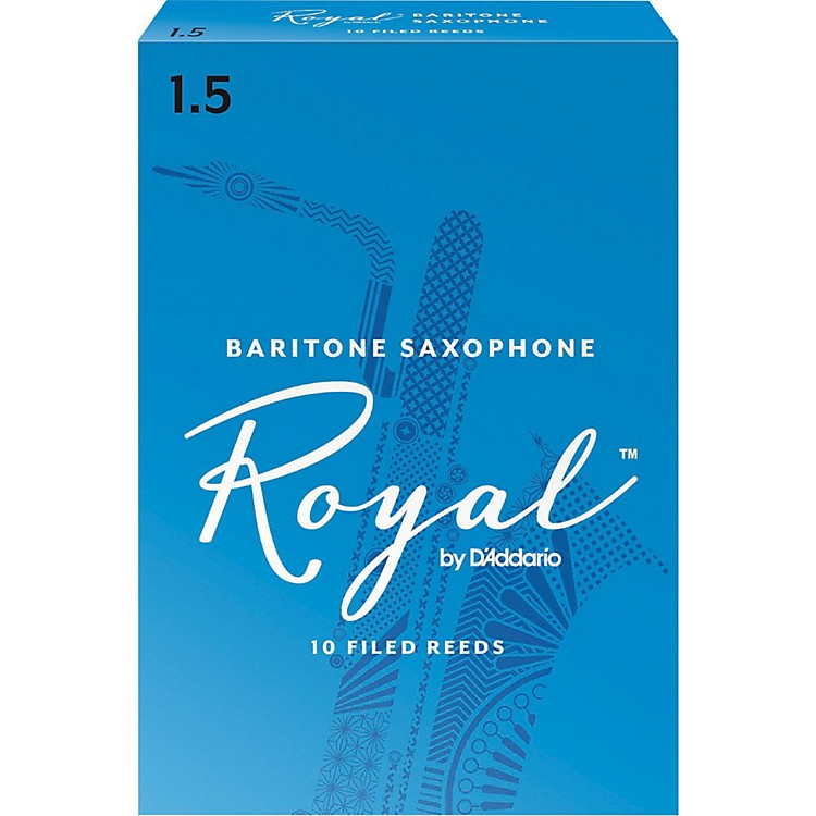 Rico Royal Baritone Saxophone Reeds Strength 1.5 Box of 10