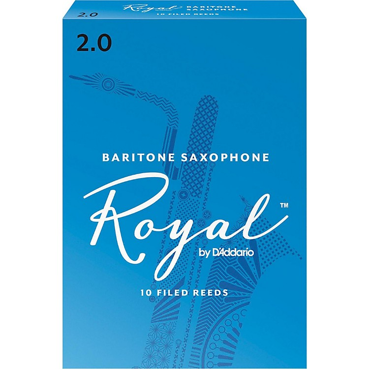 Rico Royal Baritone Saxophone Reeds Strength 2 Box of 10