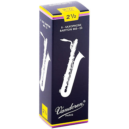 Vandoren Baritone Saxophone Reeds Strength 2.5 Box of 5