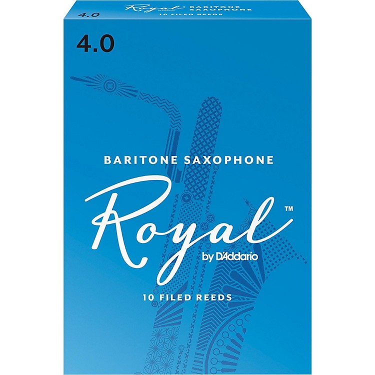 Rico Royal Baritone Saxophone Reeds Strength 4 Box of 10