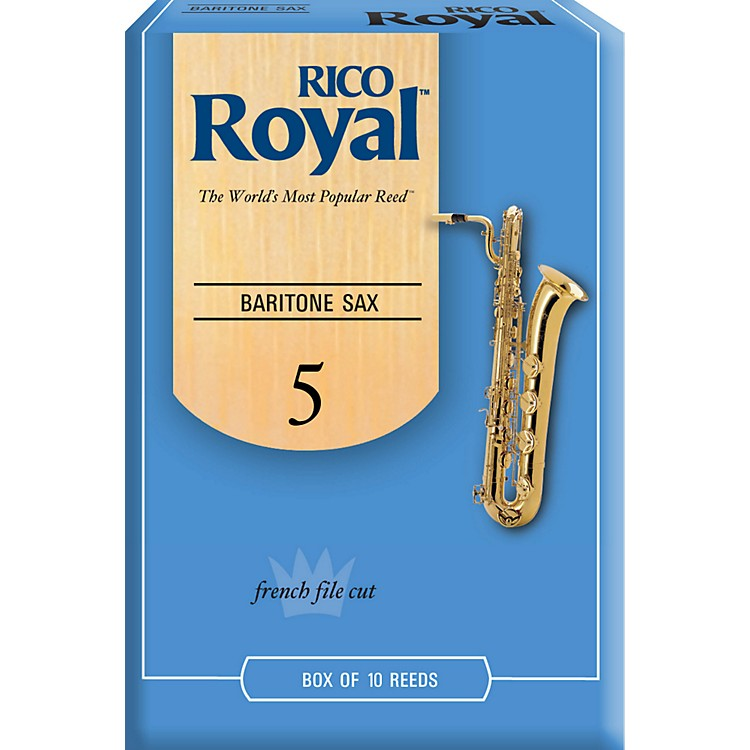 Rico Royal Baritone Saxophone Reeds Strength 5 Box of 10