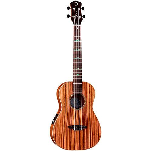 Luna Guitars Baritone Zebra Acoustic-Electric Ukulele