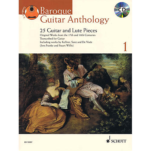 Schott Baroque Guitar Anthology  - Volume 1 Schott Series Softcover with CD