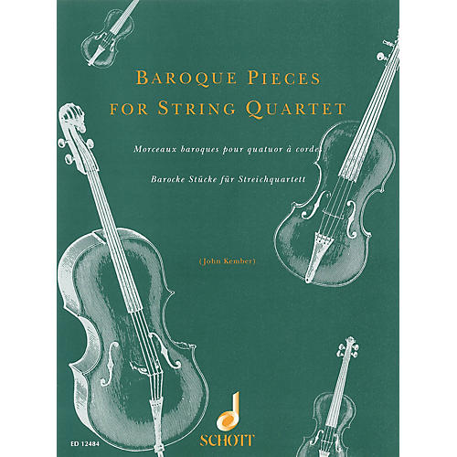 Schott Baroque Pieces for String Quartet Schott Series Softcover Composed by Various Arranged by John Kember-thumbnail