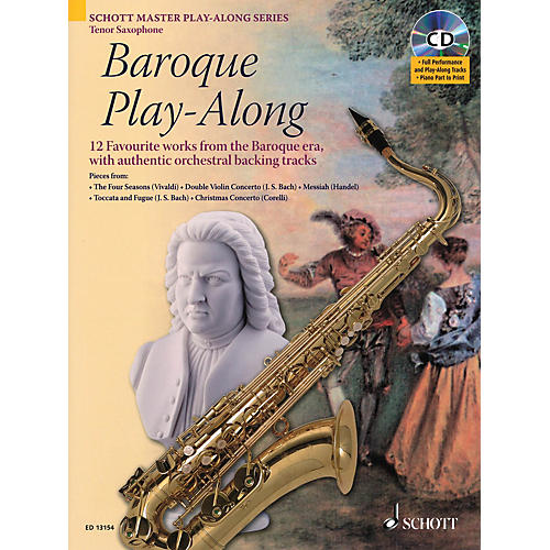 Schott Baroque Play-Along (12 Favorite Works from the Baroque Era) Instrumental Play-Along Series-thumbnail