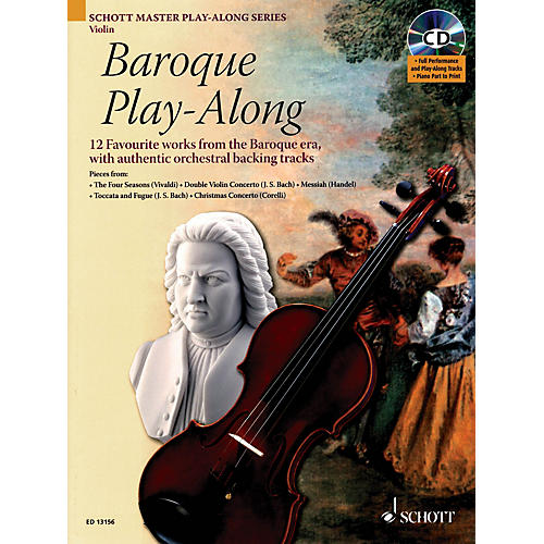 Schott Baroque Play-Along for Violin (12 Favorite Works from the Baroque Era) Instrumental Folio Series-thumbnail