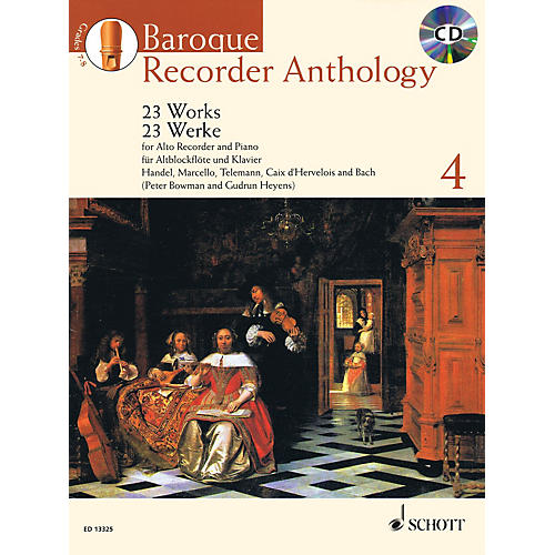 Schott Baroque Recorder Anthology, Vol. 4 Schott Softcover with CD  by Various Edited by Gudrun Heyens-thumbnail
