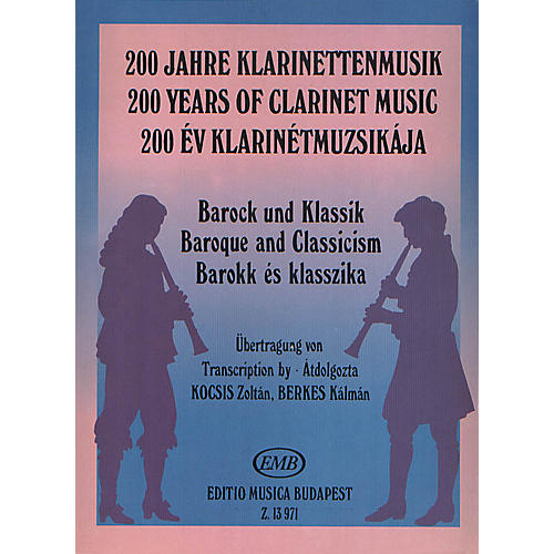 Editio Musica Budapest Baroque and Classicism (200 Years of Clarinet Music) EMB Series by Various-thumbnail