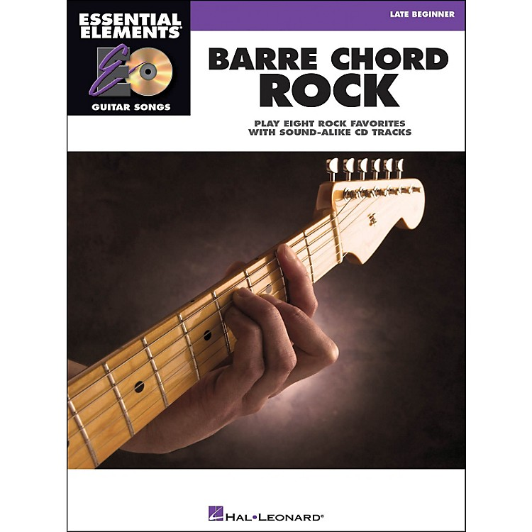 Hal Leonard Barre Chord Rock Essential Elements Guitar Songs Book/CD Late Beginner