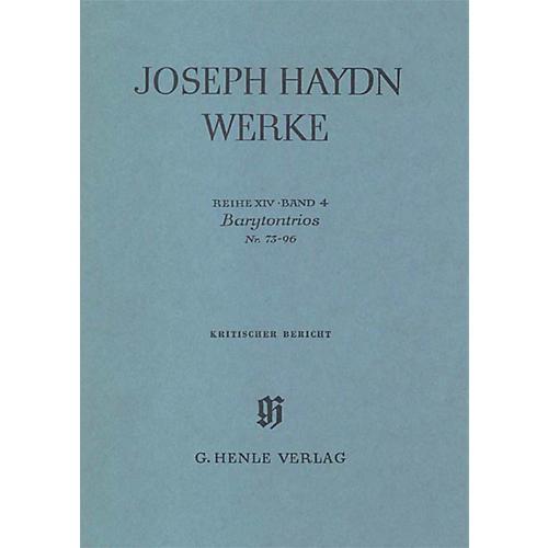 G. Henle Verlag Barytone Trios No. 73-96 Henle Edition Series Hardcover-thumbnail