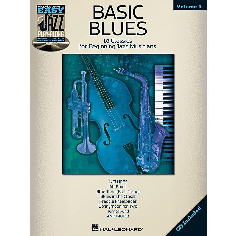 Hal LeonardBasic Blues - Easy Jazz Play-Along Vol. 4 Book/CD