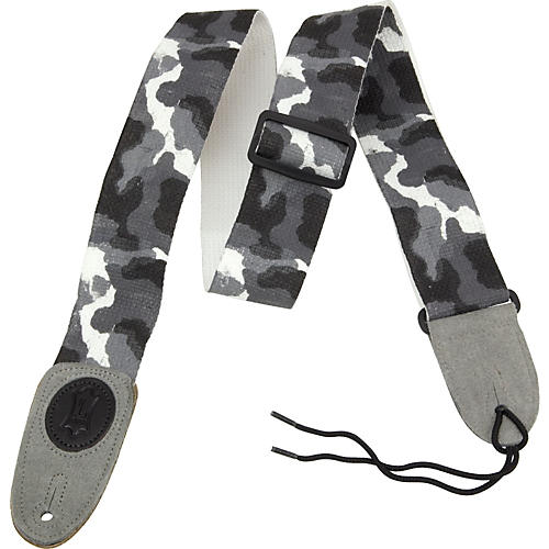 Levy's Basic Cotton Signature Series Guitar Strap with Suede Ends Arctic Camoflauge