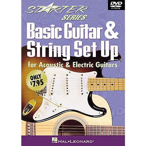 Hal Leonard Basic Guitar & String Set Up (Starter Series DVD) Starter Series (Video) Series DVD Written by Tom Kolb