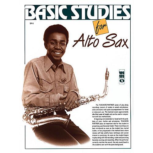 Music Minus One Basic Studies for Alto Sax (Teacher's Partner) Music Minus One Series Book with CD-thumbnail