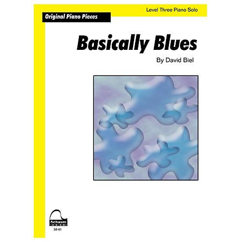 SCHAUM Basically Blues (Schaum Level 3 Sheet) Educational Piano Book by David Biel