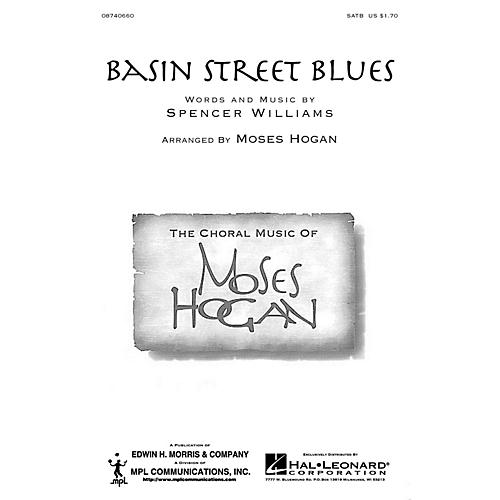 Hal Leonard Basin Street Blues SATB arranged by Moses Hogan-thumbnail