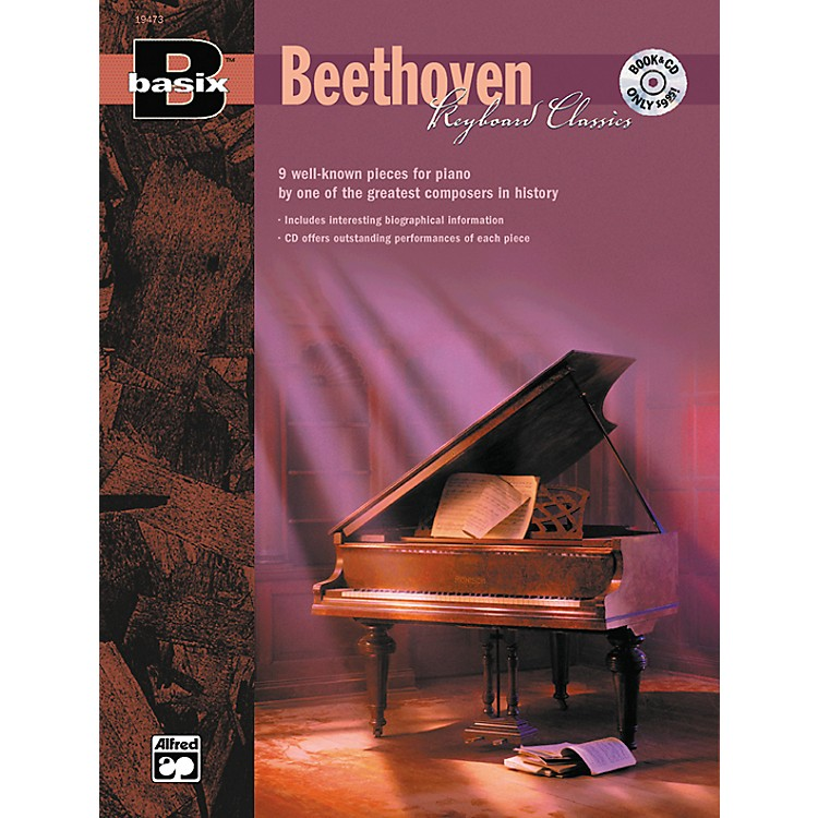 Alfred Basix Keyboard Classics: Beethoven (Book/CD)