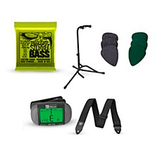 Musician's Friend Bass Accessory Kit: Strings, Picks, Strap, Tuner & Stand