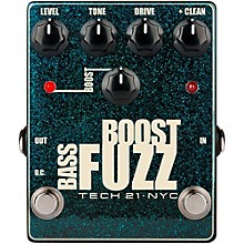 Tech 21 Bass Boost Fuzz Metallic Effects Pedal