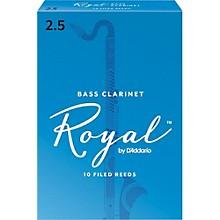 Rico Royal Bass Clarinet Reeds, Box of 10 Strength 2.5