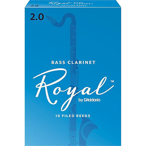 Rico Royal Bass Clarinet Reeds, Box of 10 Strength 2