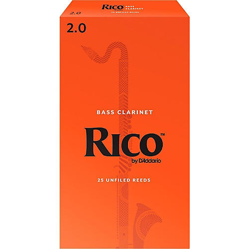 Rico Bass Clarinet Reeds Strength 2 Box of 25