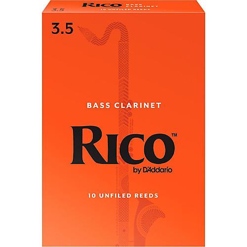 Rico Bass Clarinet Reeds Strength 3.5 Box of 10
