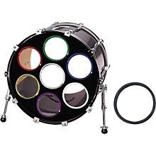 "Bass Drum O's Bass Drum Port""O"" Blue Chrome 6 in."