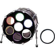 """Bass Drum O's Bass Drum Port""""O"""" Green Chrome 6 in."""