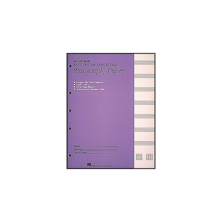 Hal LeonardBass Guitar Tablature Manuscript Paper