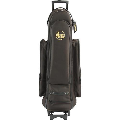 Gard Bass Trombone Wheelie Bag 24-WBFSK Black Synthetic w/ Leather Trim