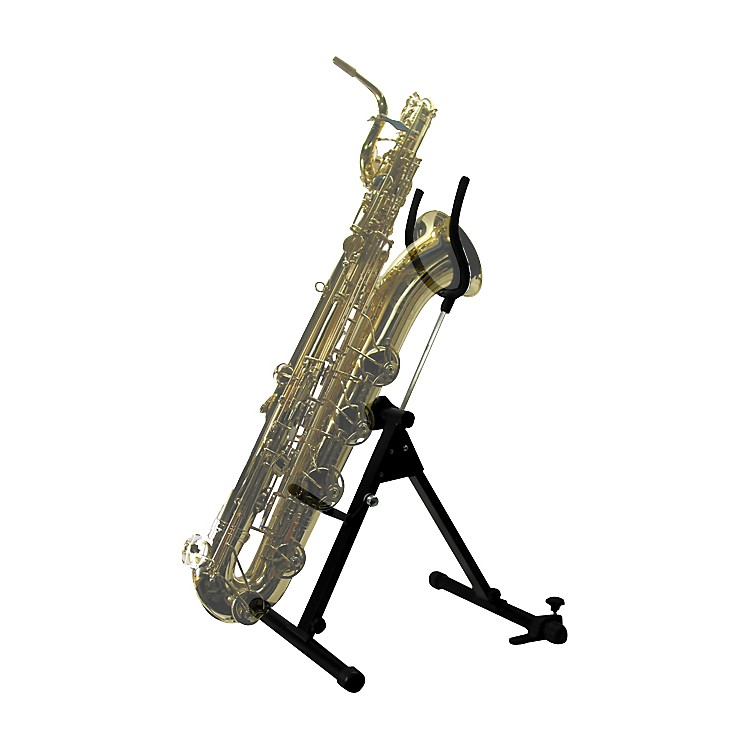 International Woodwind Bass or Bari Saxophone Stand by Saxrax Bass Saxophone - Complete Stand