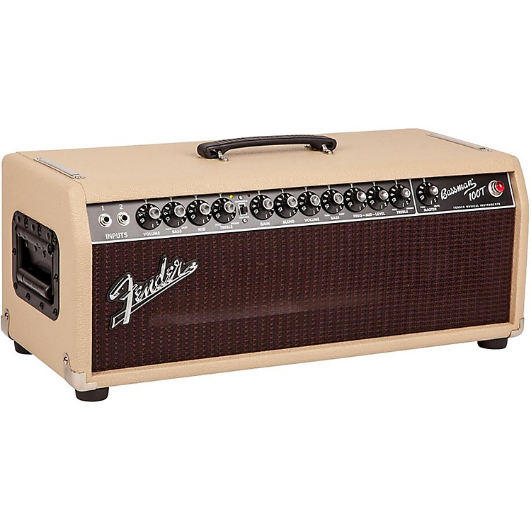 Fender Bassman 100T 100W Tube Bass Head Blonde/Oxblood