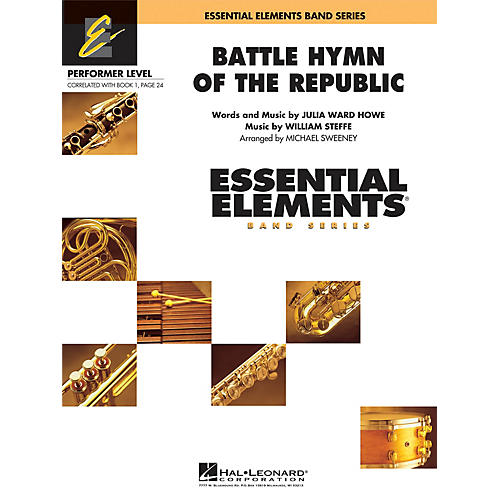 Hal Leonard Battle Hymn of the Republic Concert Band Level .5 to 1 Arranged by Michael Sweeney