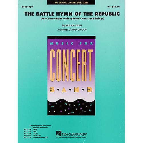 Hal Leonard Battle Hymn of the Republic (Grade 4-5 Concert Band with Choir) Concert Band Level 4-5 by John Moss