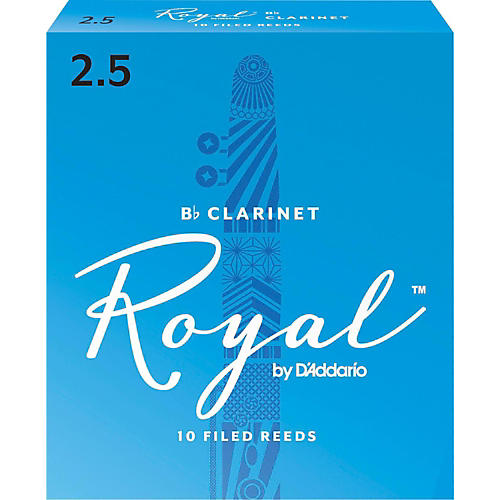 Rico Royal Bb Clarinet Reeds, Box of 10 Strength 2.5