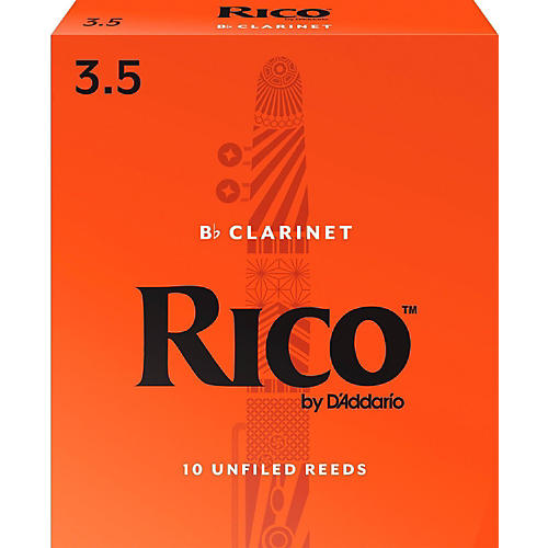 Rico Bb Clarinet Reeds, Box of 10 Strength 3.5