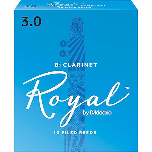 Rico Royal Bb Clarinet Reeds, Box of 10 Strength 3