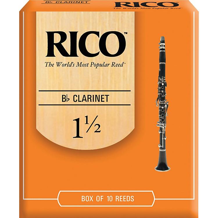 RicoBb Clarinet ReedsStrength 1.5Box of 10