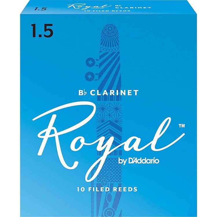 Rico RoyalBb Clarinet ReedsStrength 1.5Box of 10
