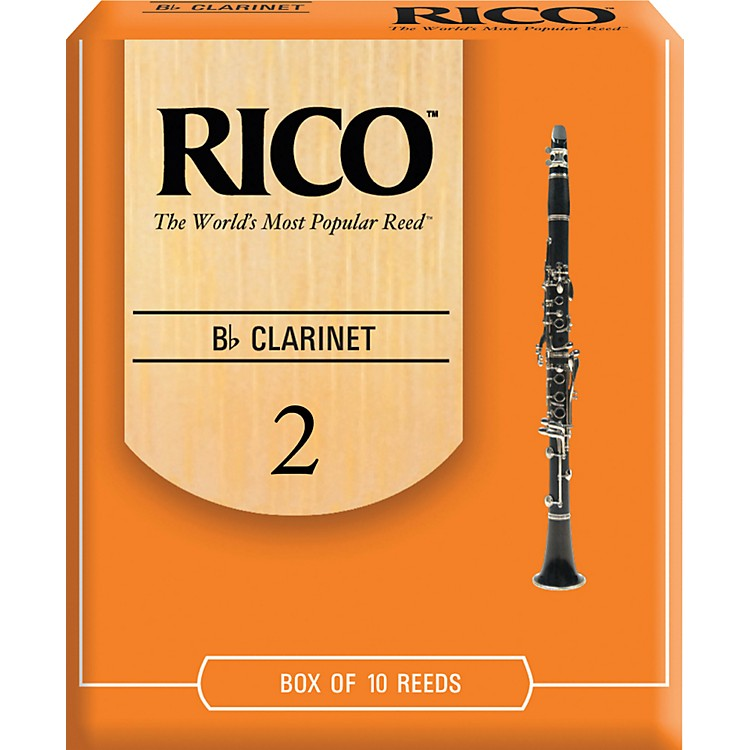 Rico Bb Clarinet Reeds Strength 2 Box of 10