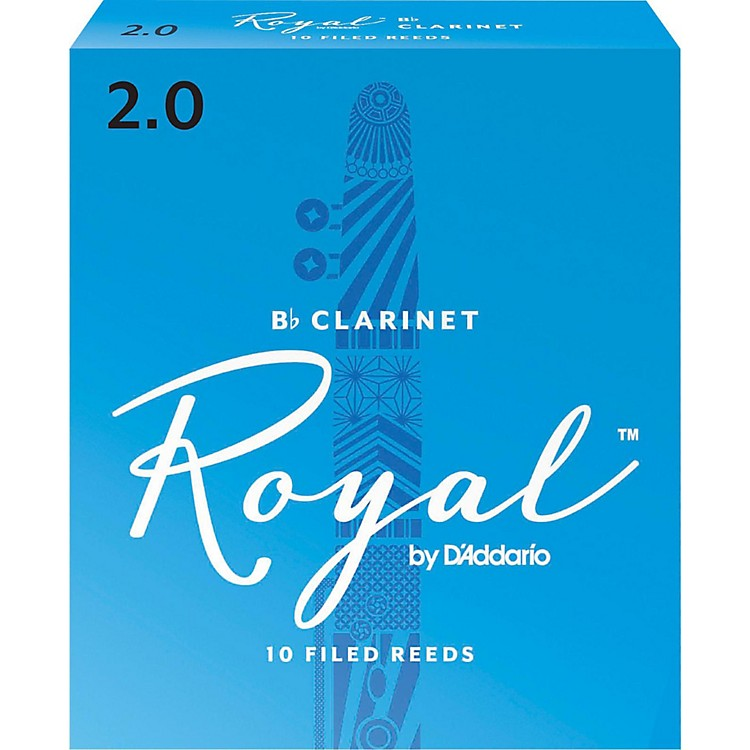 Rico Royal Bb Clarinet Reeds Strength 2 Box of 10