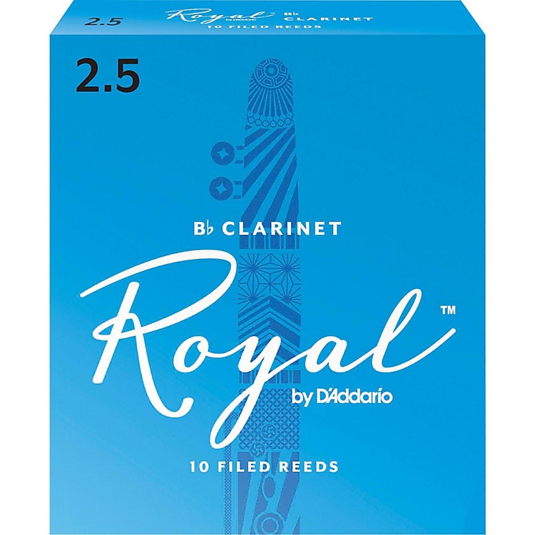 Rico Royal Bb Clarinet Reeds Strength 2.5 Box of 10
