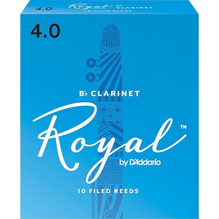 Rico RoyalBb Clarinet ReedsStrength 4Box of 10