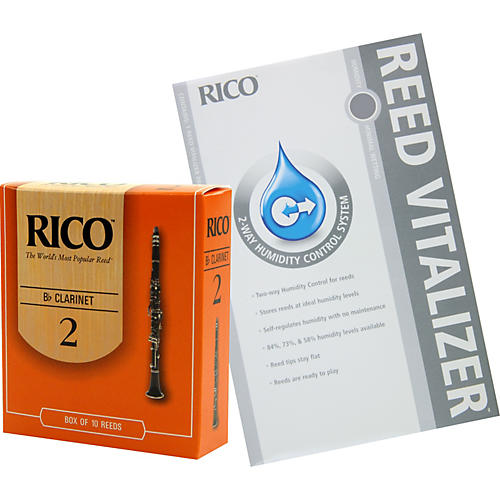 Rico Bb Clarinet Reeds with Free Reed Vitalizer
