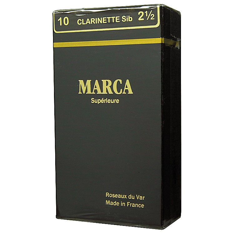 Marca Bb Clarinet Superieur Reeds Strength 2.5 Box of 10